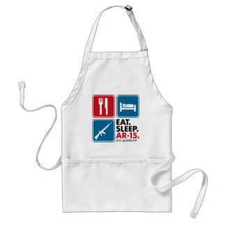 Eat Sleep AR-15 - Red and Blue Aprons