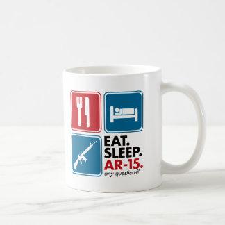 Eat Sleep AR-15 - Red and Blue Basic White Mug