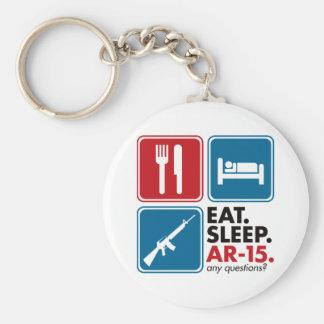 Eat Sleep AR-15 - Red and Blue Keychain