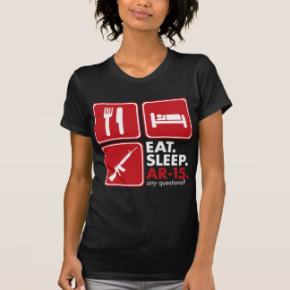 Eat Sleep AR-15 - Red and White T-shirts