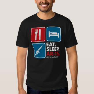 Eat Sleep AR-15 - Red Blue and White Shirt