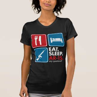Eat Sleep AR-15 - Red Blue and White T-Shirt
