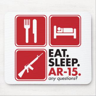 Eat Sleep AR-15 - Red Mouse Pad