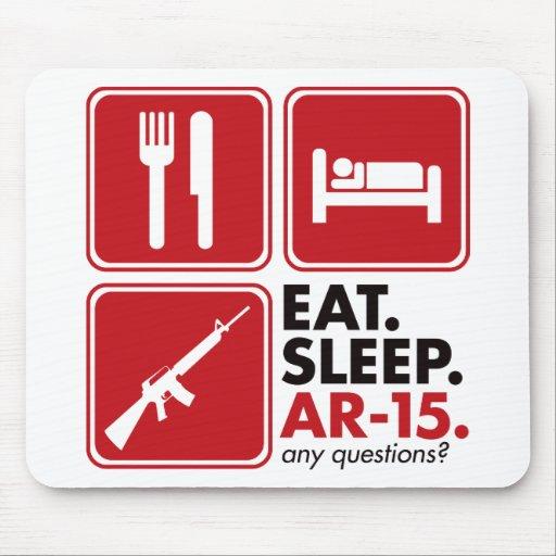 Eat Sleep AR-15 - Red Mouse Mats