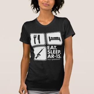 Eat Sleep AR-15 - White Tee Shirts