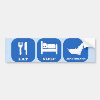 Eat Sleep Arab Emirates Bumper Stickers
