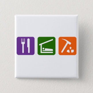 Eat Sleep Archaeology 15 Cm Square Badge