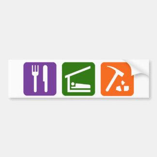 Eat Sleep Archaeology Bumper Sticker
