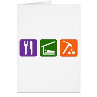 Eat Sleep Archaeology Card