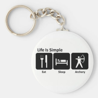 Eat Sleep Archery Basic Round Button Key Ring