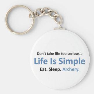 Eat, Sleep, Archery Key Ring