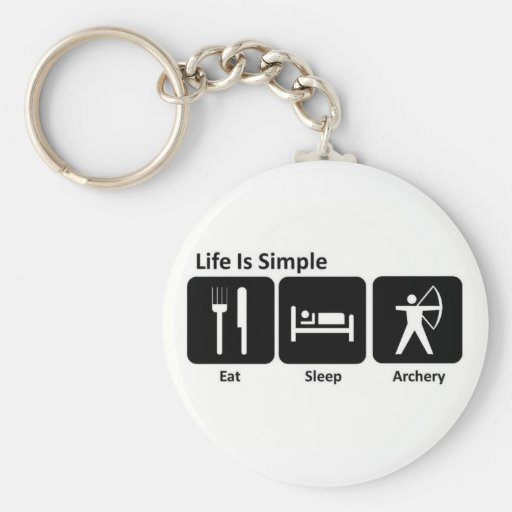 Eat Sleep Archery Key Chains