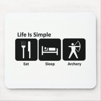 Eat Sleep Archery Mouse Mat