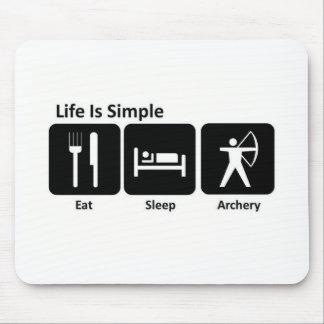 Eat Sleep Archery Mouse Pad