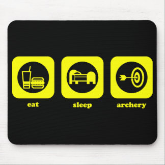 Eat. Sleep. Archery. Mousepad