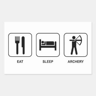 Eat Sleep Archery Rectangular Sticker