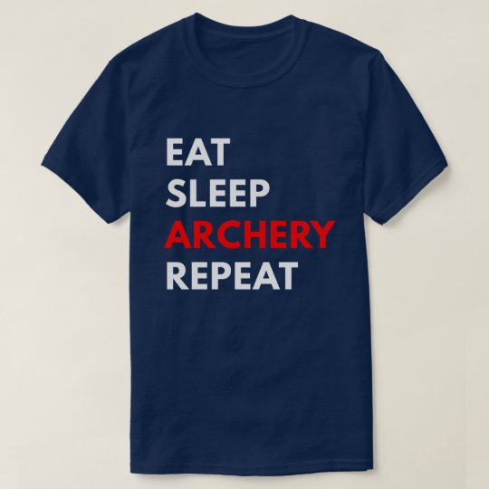 Eat Sleep Archery Repeat (Men's T-Shirt) T-Shirt