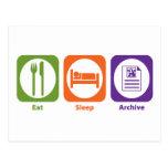 Eat Sleep Archive Post Card