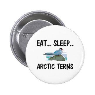 Eat Sleep ARCTIC TERNS 6 Cm Round Badge