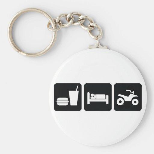 Eat Sleep ATV Key Chain