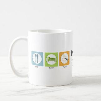Eat Sleep Audit! Basic White Mug