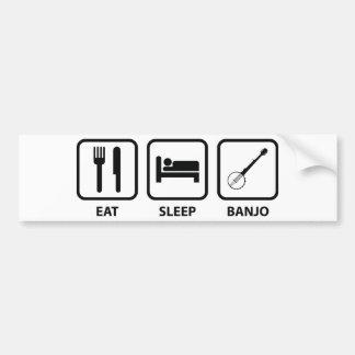 Eat Sleep Banjo Bumper Sticker