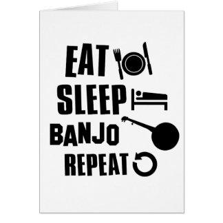 Eat Sleep Banjo Card