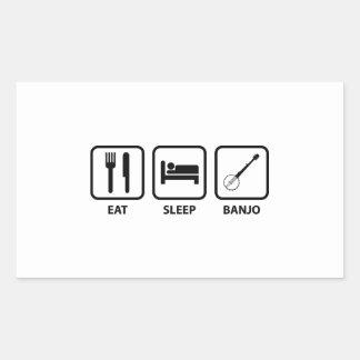 Eat Sleep Banjo Rectangular Sticker