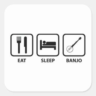 Eat Sleep Banjo Square Sticker