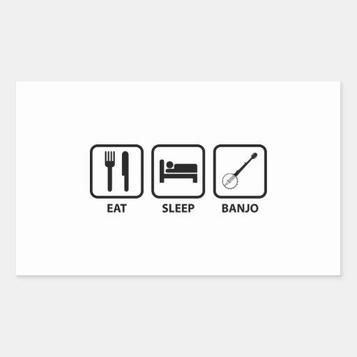 Eat Sleep Banjo Rectangle Sticker