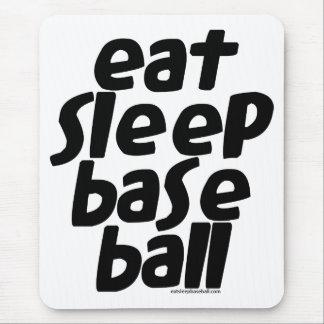 Eat Sleep Baseball 2 Mouse Pad
