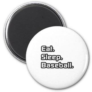 Eat. Sleep. Baseball. 6 Cm Round Magnet