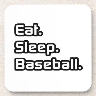 Eat Sleep Baseball Beverage Coaster