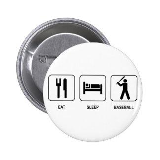Eat Sleep Baseball Button