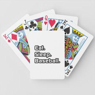 Eat Sleep Baseball Card Decks