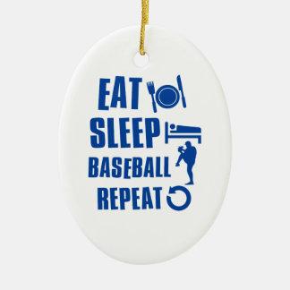 Eat sleep Baseball Christmas Ornament