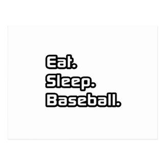 Eat. Sleep. Baseball. Postcard
