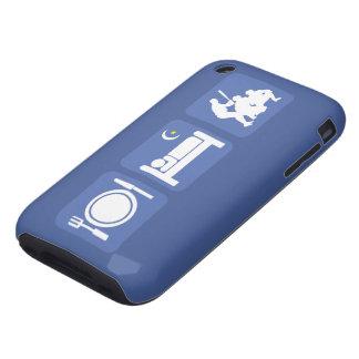 eat sleep baseball tough iPhone 3 cases