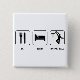 Eat Sleep Basketball Button