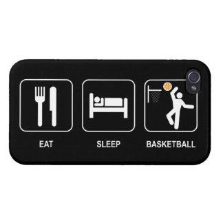 Eat Sleep Basketball Covers For iPhone 4