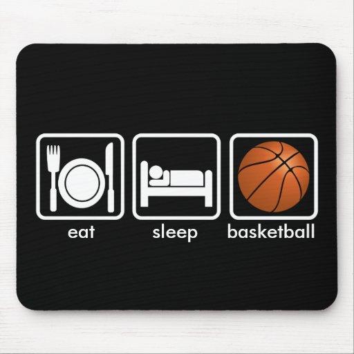 Eat, Sleep, Basketball Mousepads