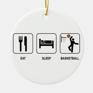 Eat Sleep Basketball Ornament