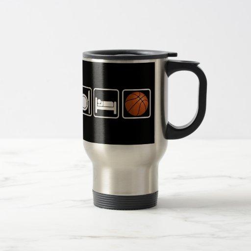 Eat, Sleep, Basketball Stainless Steel Travel Mug