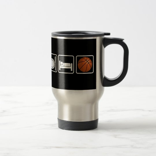 Eat, Sleep, Basketball Travel Mug