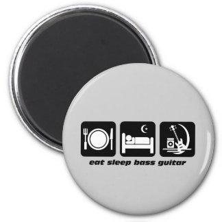 eat sleep bass guitar 6 cm round magnet