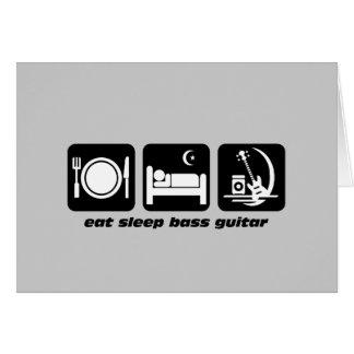 eat sleep bass guitar greeting card