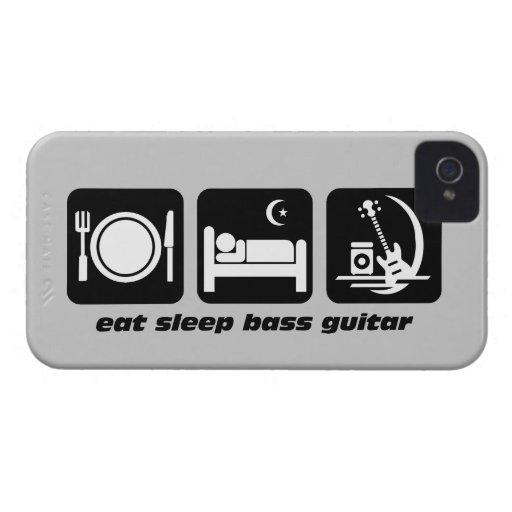 eat sleep bass guitar iPhone 4 cover