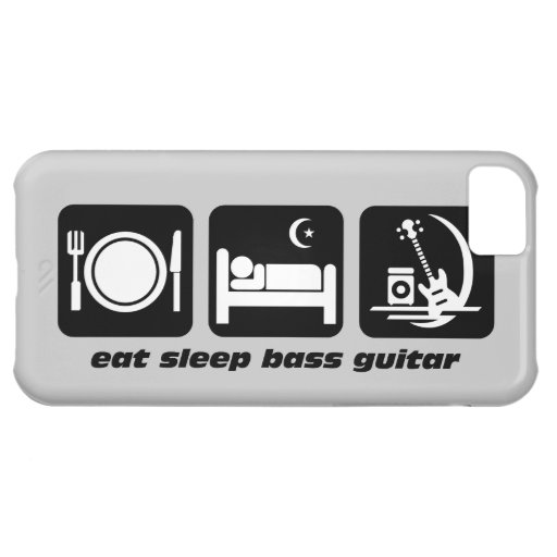 eat sleep bass guitar cover for iPhone 5C