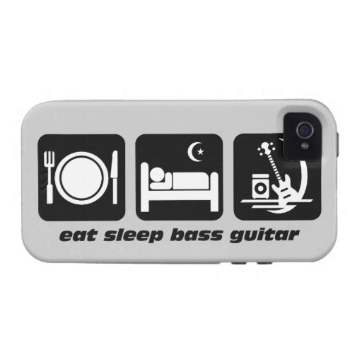 eat sleep bass guitar Case-Mate iPhone 4 case