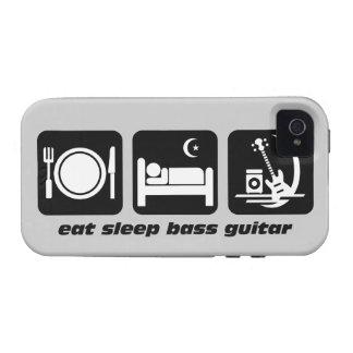 eat sleep bass guitar Case-Mate iPhone 4 cases